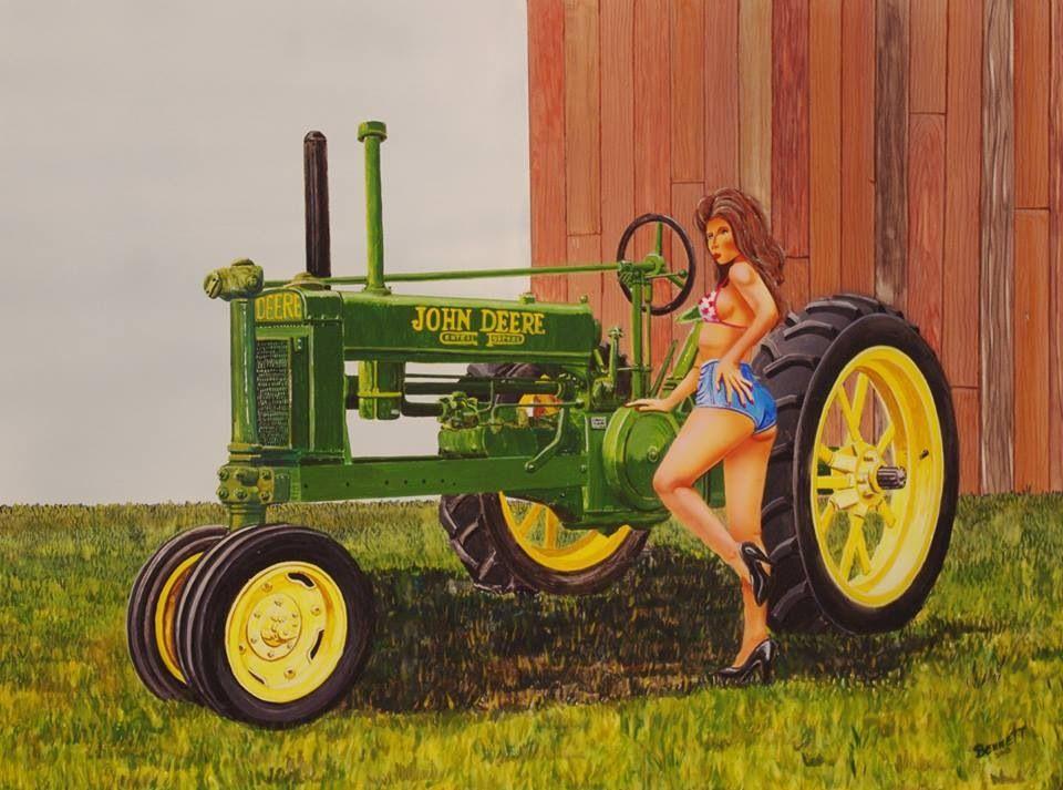 Classic farmer takes daughter
