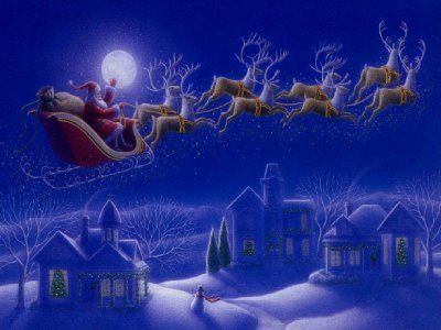 Sleigh Is Packed Snow Has Fallen Santa S Ready For His Rooftop Ride Is Your Roof R Animated Christmas The Night Before Christmas Merry Christmas Wallpaper