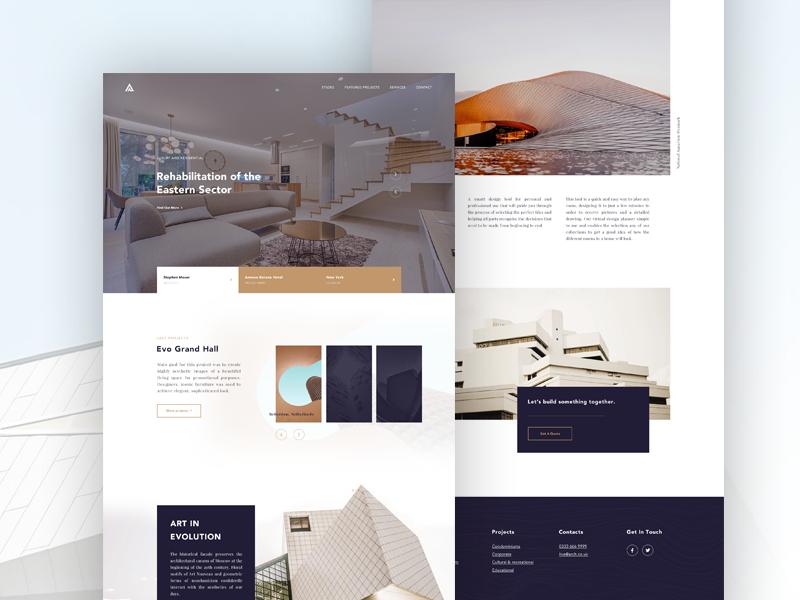 Architecture Website Design 모바일 디자인, 디자인, 웹사이트