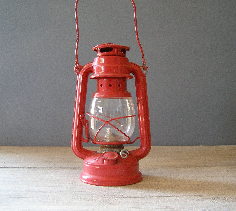 Red Lantern Lamp Emel Railroad Lamp By Meshumash On Etsy,