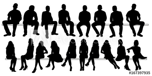 Vector Isolated Set Of Silhouettes Of Seated People Collection Of Silhouettes Buy This Stock Vec Silhouette People Person Silhouette Silhouette Architecture