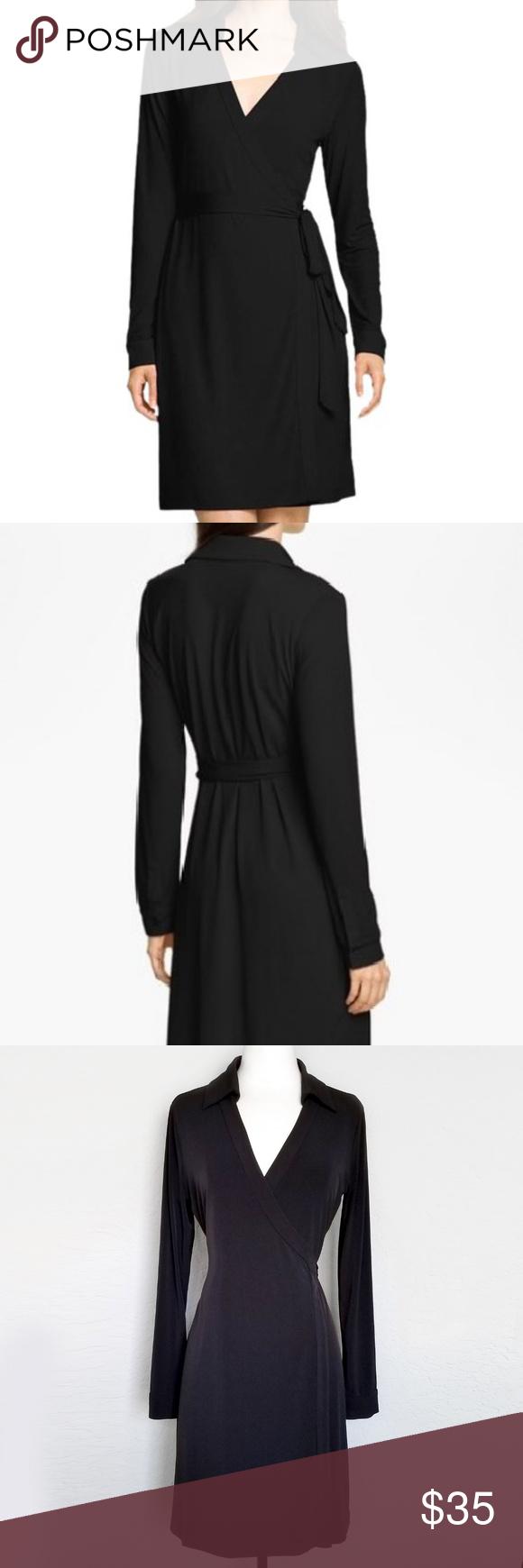 Calvin klein black midi wrap dress in my posh picks