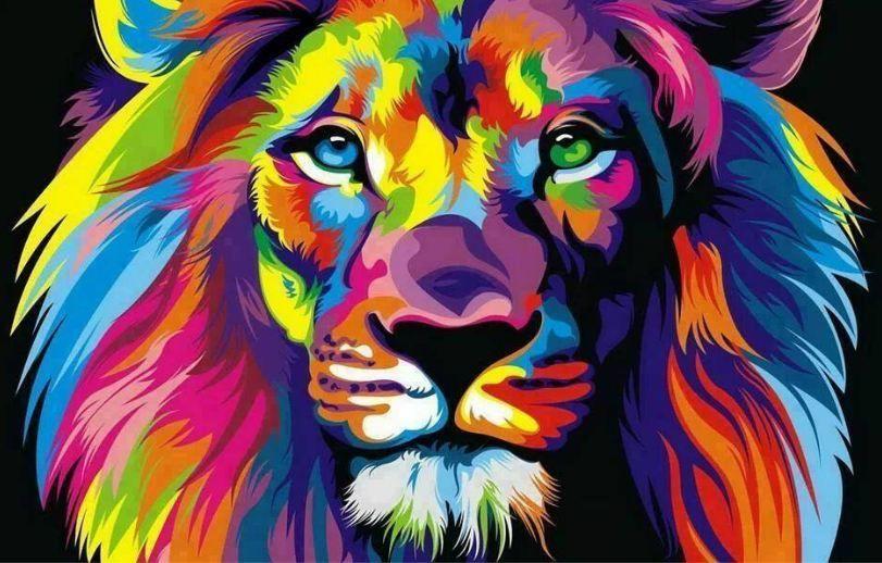 coloured lion