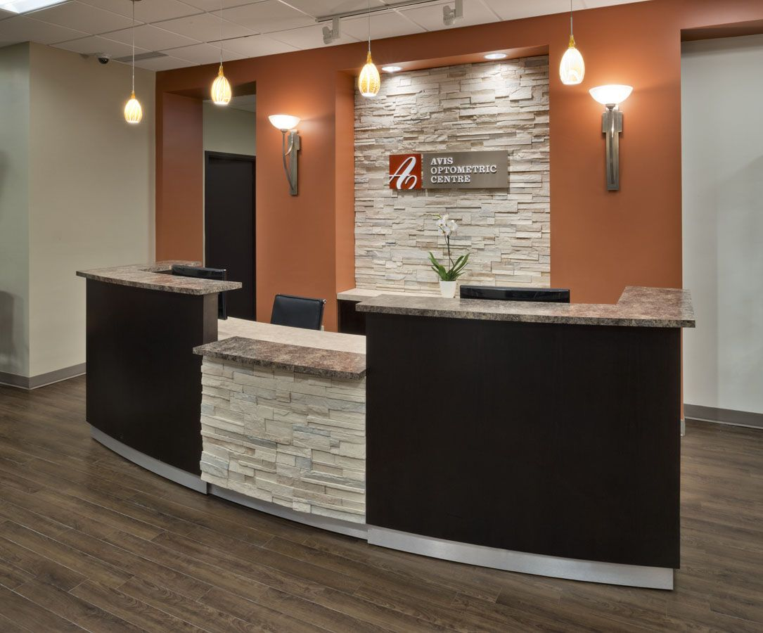 Avis optometric centre optical design barbara wright for Bureau reception