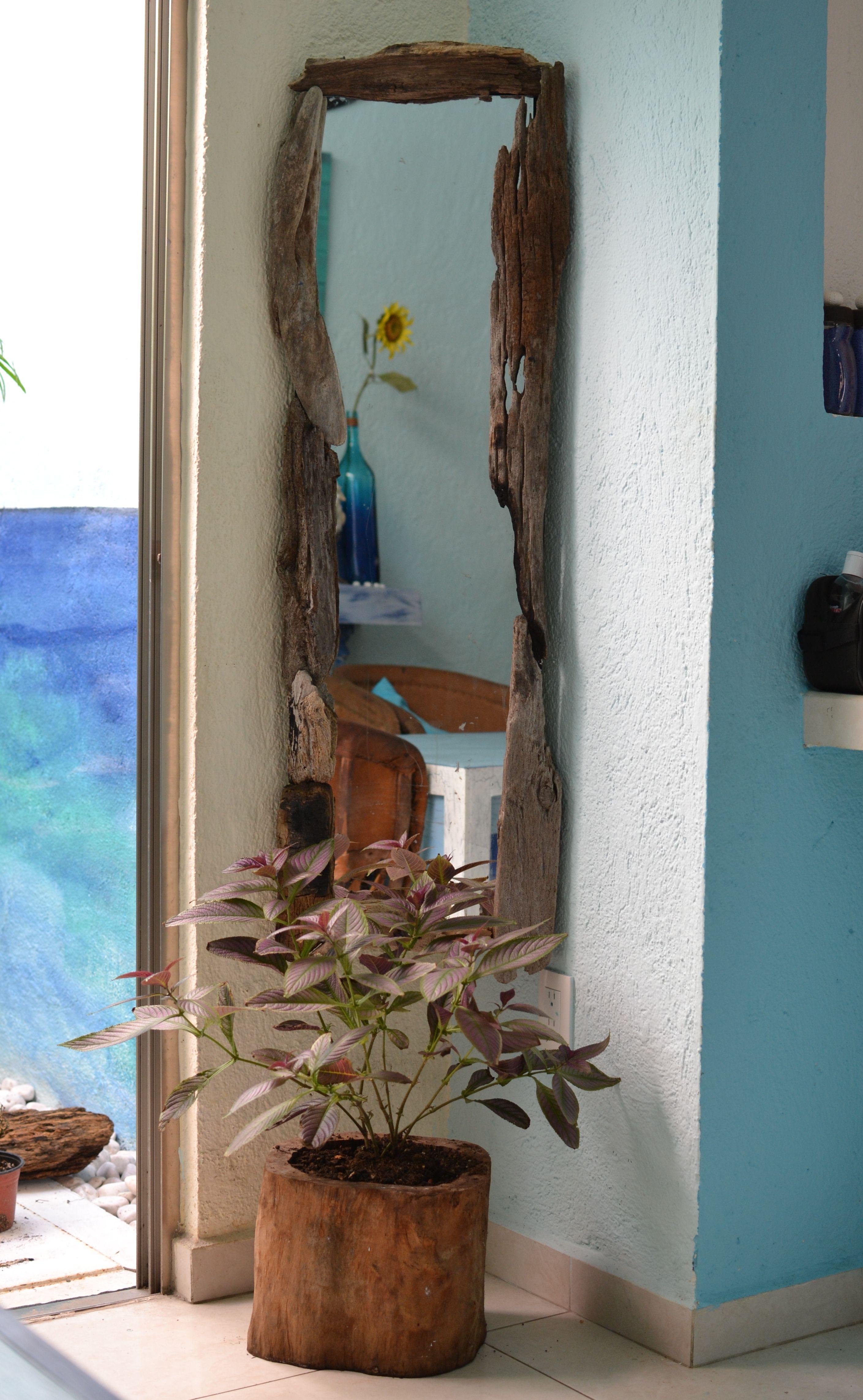 Driftwood Mirror. Beachy Picture Frame. Rustic simple decor. Beach ...