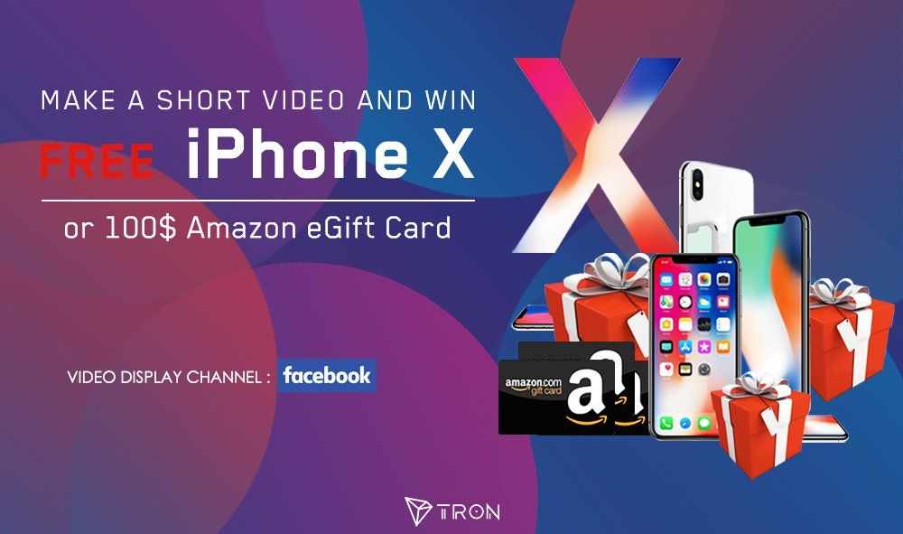 CryptoCurrency Make a short video and win iPhone X