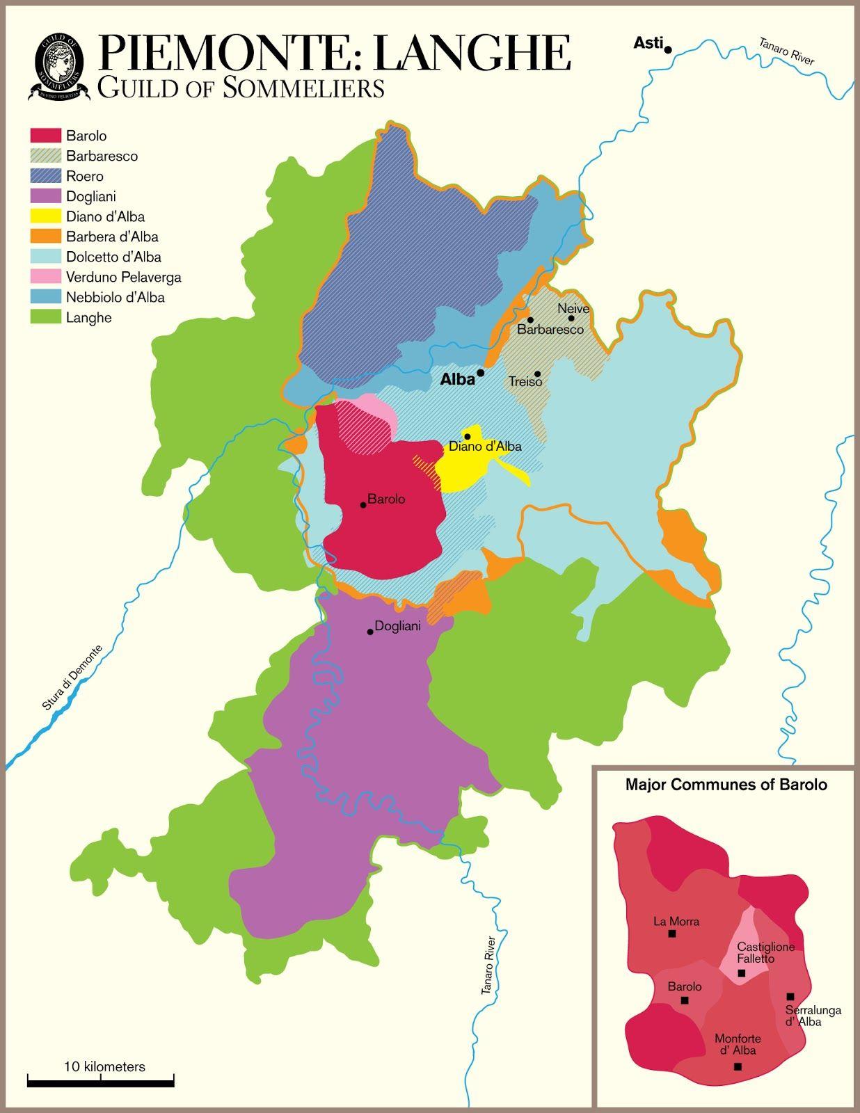 Langhe Region Italy Map.Wine Mise En Abyme The Langhe Piemonte Italy Wine Region
