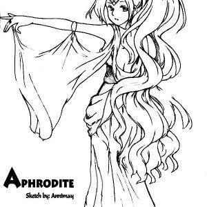 Aphrodite Drawing Aphrodite Coloring Page Drawing Aphrodite