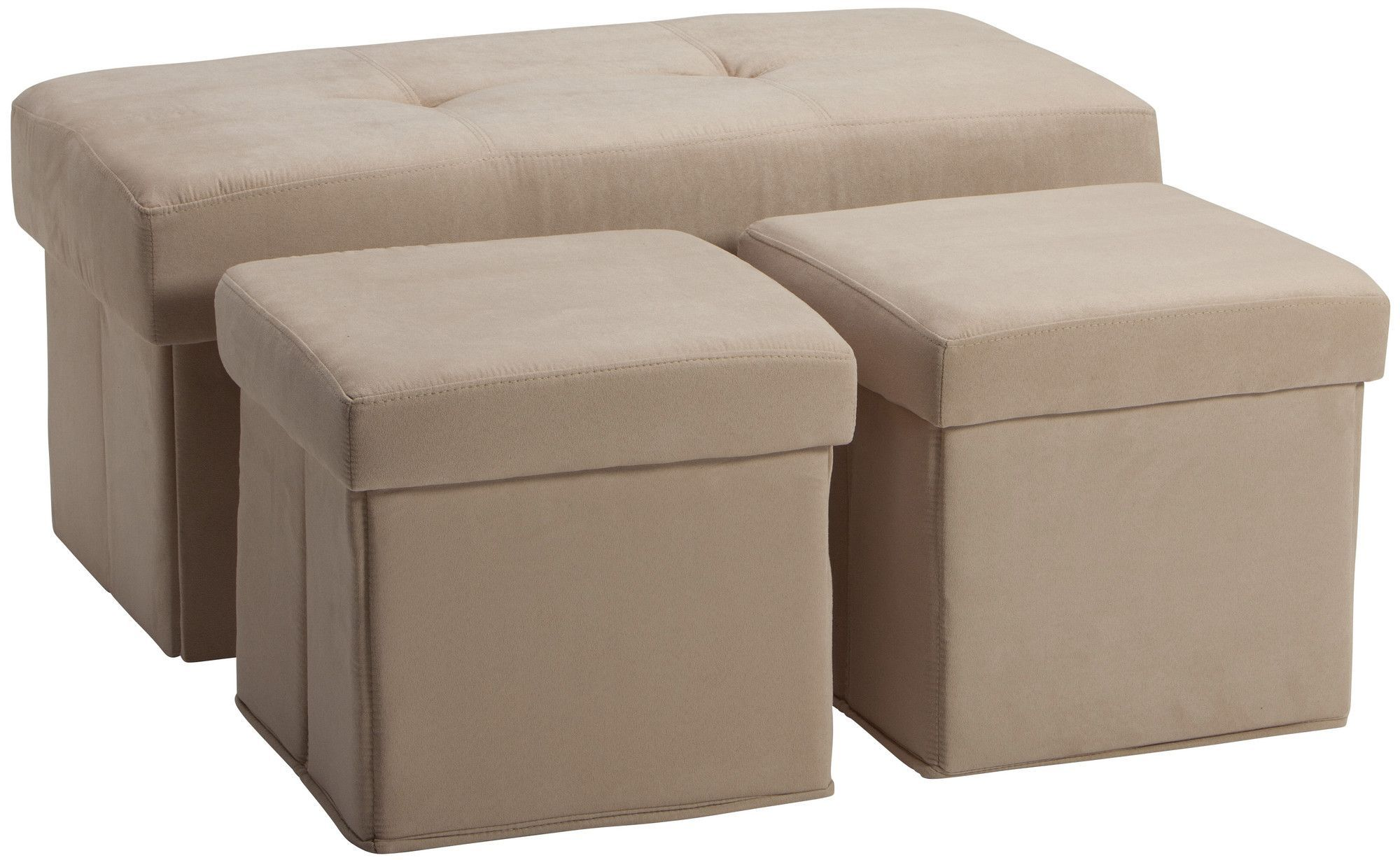 Surprising 3 Piece Storage Ottoman Set Home Decor Ottoman Table Gmtry Best Dining Table And Chair Ideas Images Gmtryco