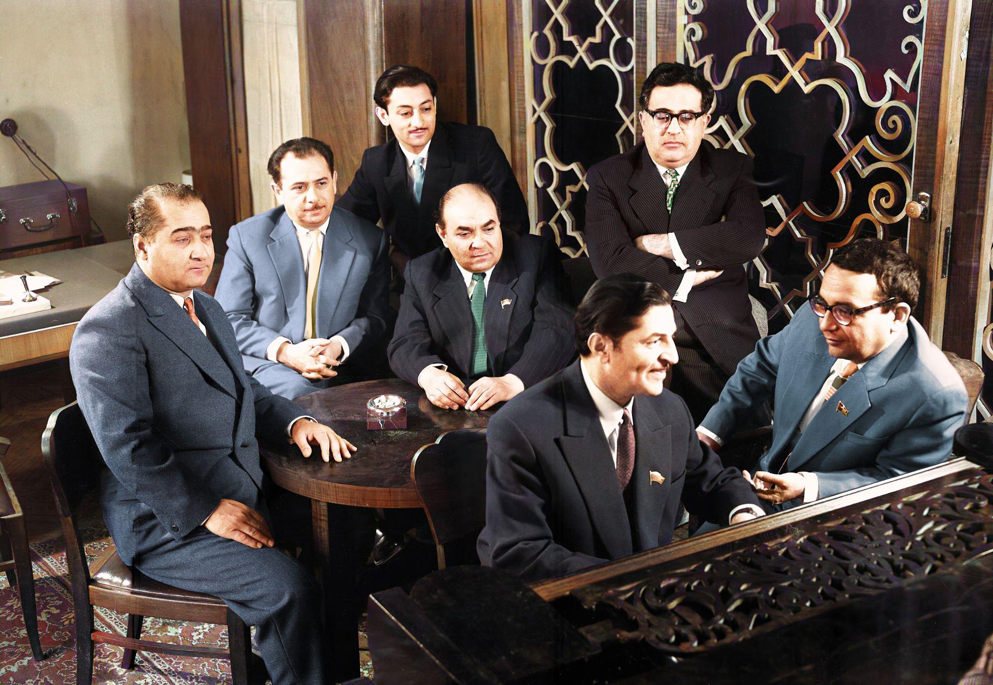 Azerbaijani Composers 1960s Colorized Photos Photography Photo