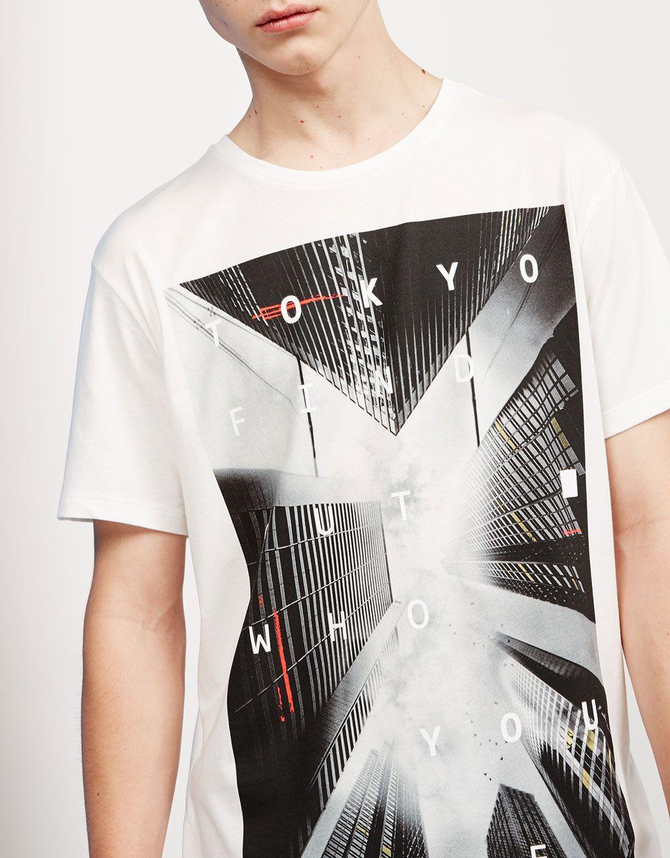 S.F TOKYO NYC cities top - T-shirts - Bershka United Kingdom ... 380531f2540