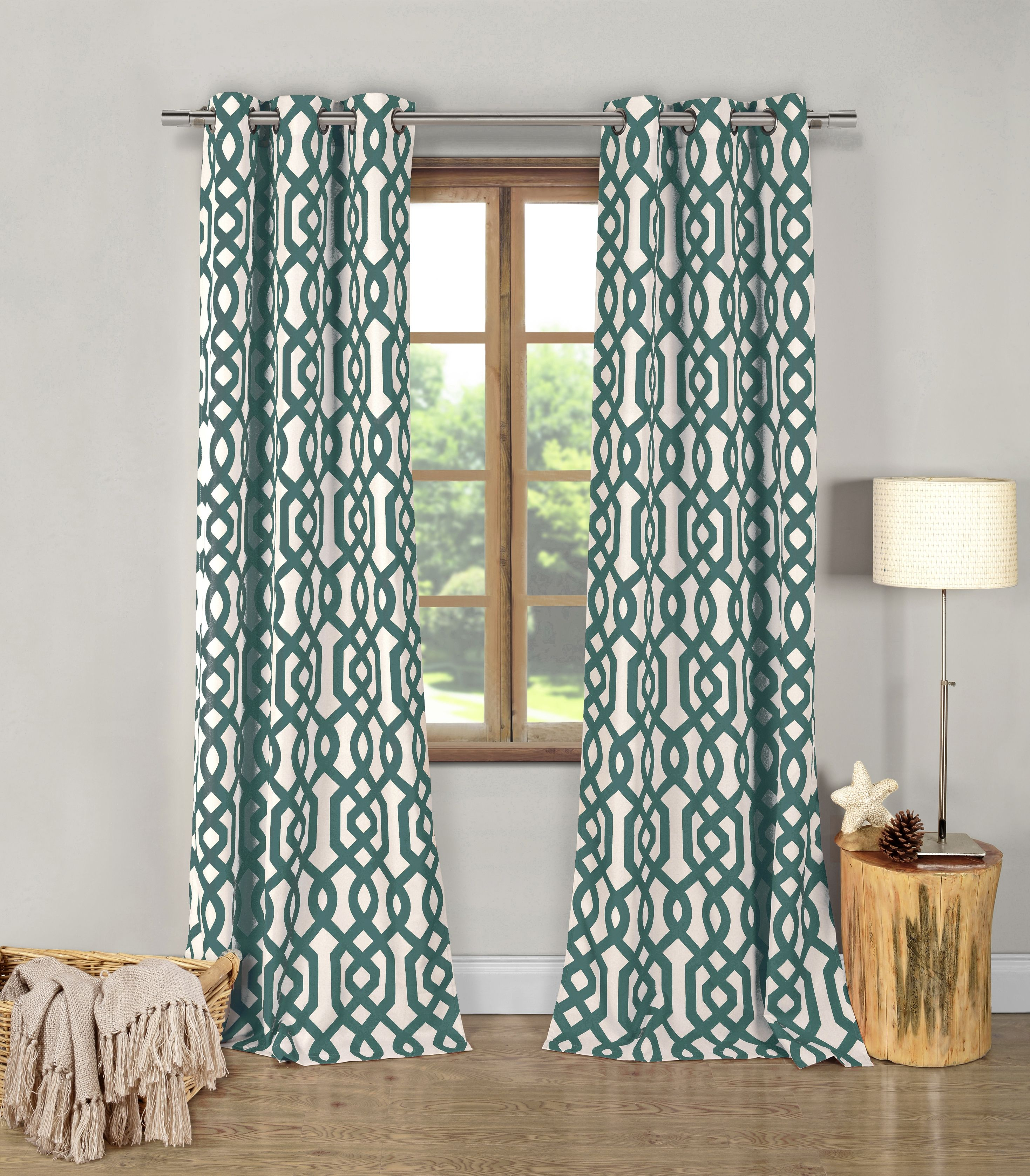Green geometric window curtains realtagfo pinterest