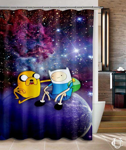 Adventure Time BMO Retro Cute Shower Curtain Design Vintage Custom Gift Birthdays Present Fashion Favorites Home Living New Hot Super Rare Bathroom Bath Up