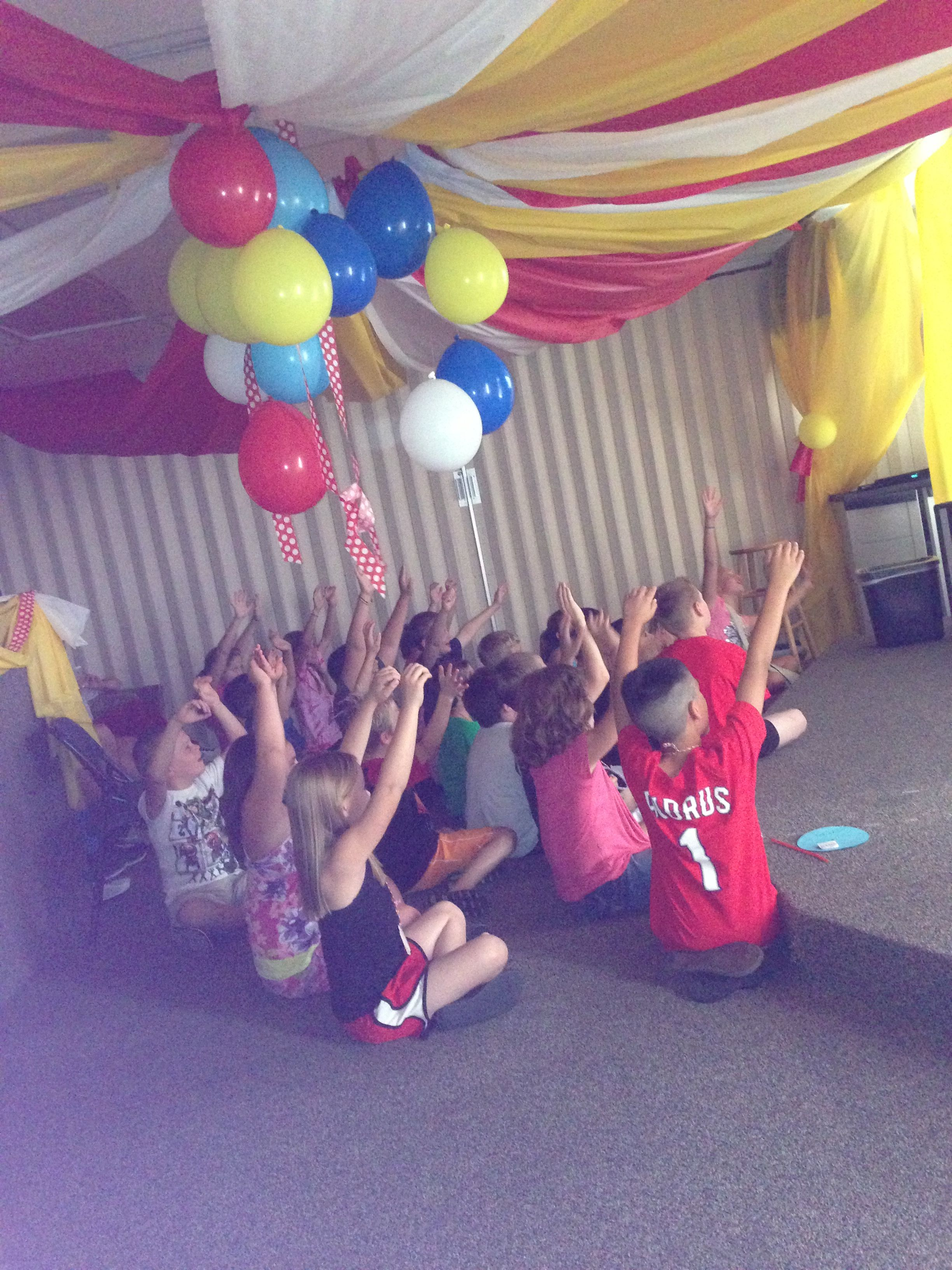 rocking the 2013 vbs theme  balloons and plastic