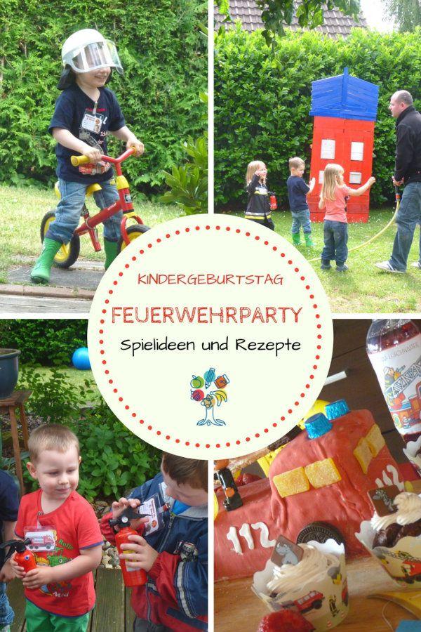 Photo of Feuerwehrparty zum Kindergeburtstag. Hier findest du Spielideen und Rezepte für…
