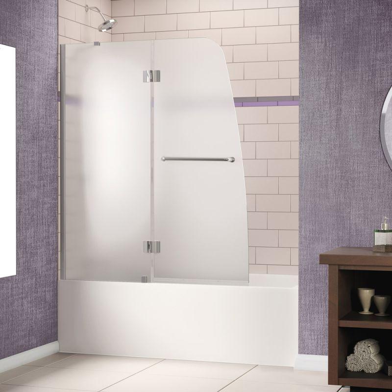 Dreamline Shdr 3148586 Fr Aqua Frameless Hinged Tub Door 48 X 58