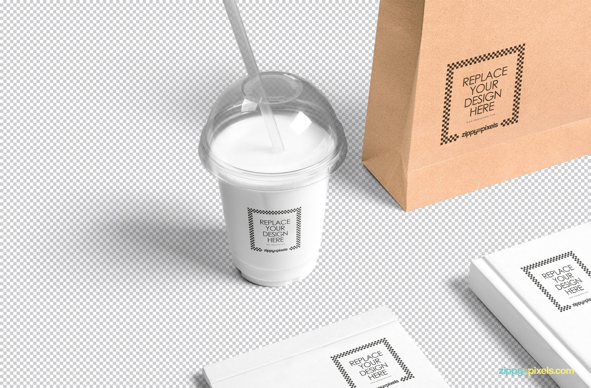 Free Transparent Plastic Cup Mockup Milk packaging, Cup