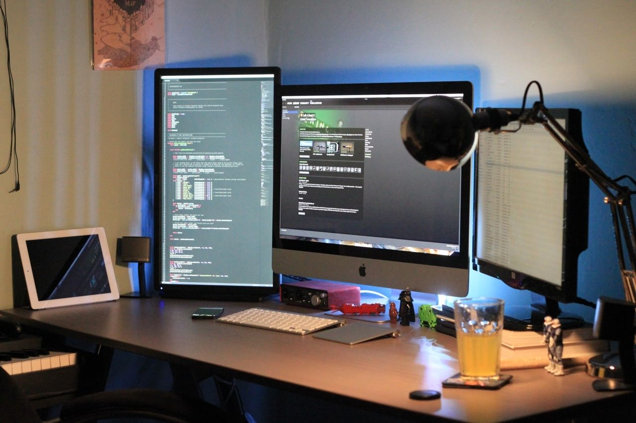 Wonderful Workspace Cool Computer Setups Gaming Led