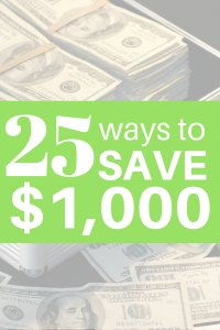 Looking for ways to improve your personal finance situation? Check out these 25 ways to save over $1,000!
