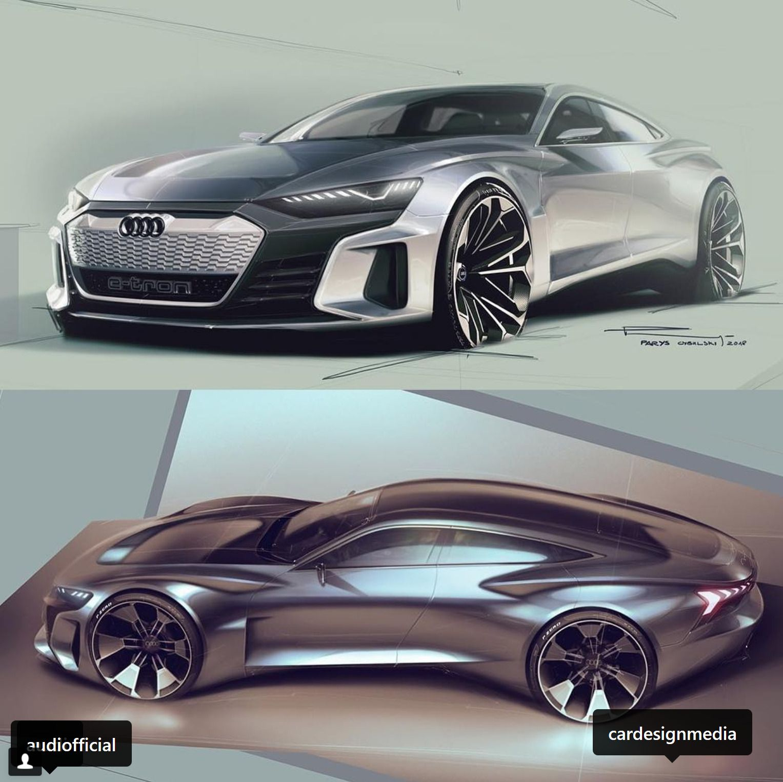Designsketch By Paris Cybulski E Tron Gt Concept Audi Cardesign Transportationdesign Car Design Sketch Car Design Audi E Tron