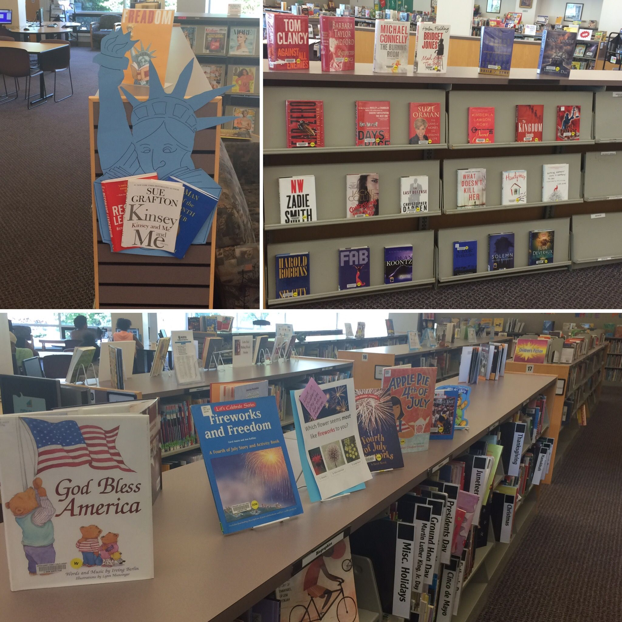 Independenceday July4 Books Bookdisplay Library Display Book Display God Bless America Books