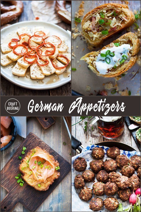 German Appetizers Compilation - Authentic Recipes #octoberfestfood