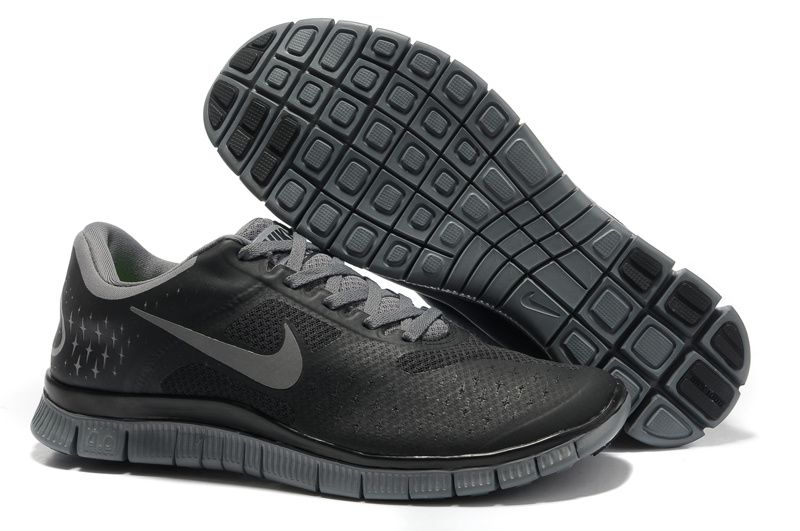 6f969d2c68f4 Mens Nike Free 4.0 V2 Black Cool Grey Shoes  Black  Womens  Sneakers ...