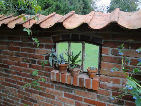 Ruinenmauern Mauerwerk Garten Klinker Ziegelsteine Bauen Mauern Ruine Buchsteine Steinmauer Garten Ruinenmauer Gartenmauern