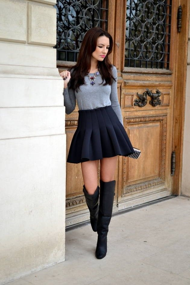 2014 hm over-the-knee boots - new favorite sweaters mini skirts ...