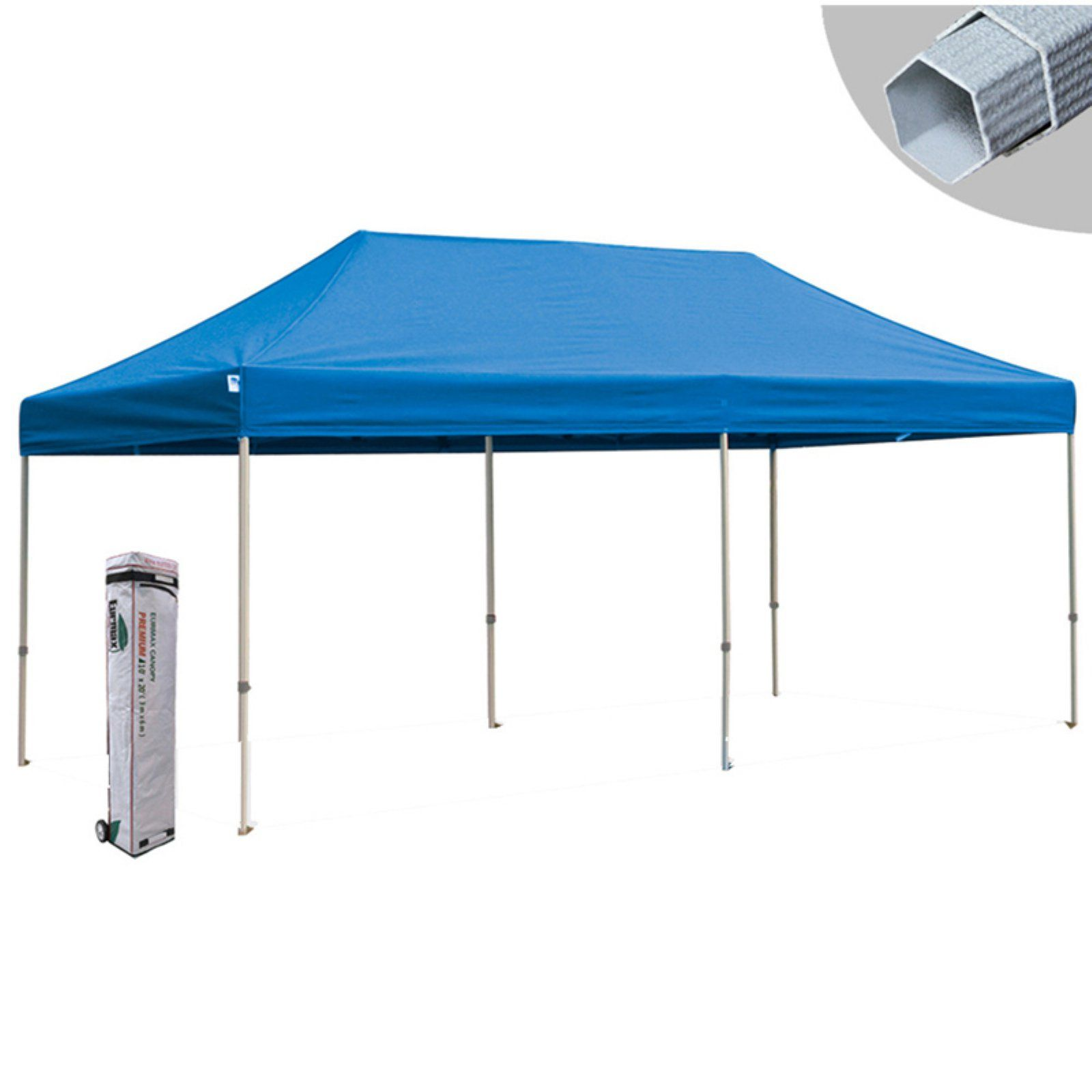 Eurmax Canopy Inc Premium 10 X 20 Ft Pop Up Canopy Royal Blue Party Tent Canopy