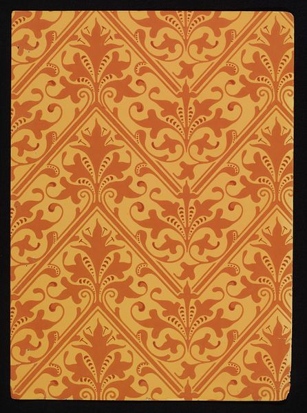 Gold #chevron #wallpaper by Lewis Foreman Day, England, ca. 1887-1900 l Victoria and Albert Museum