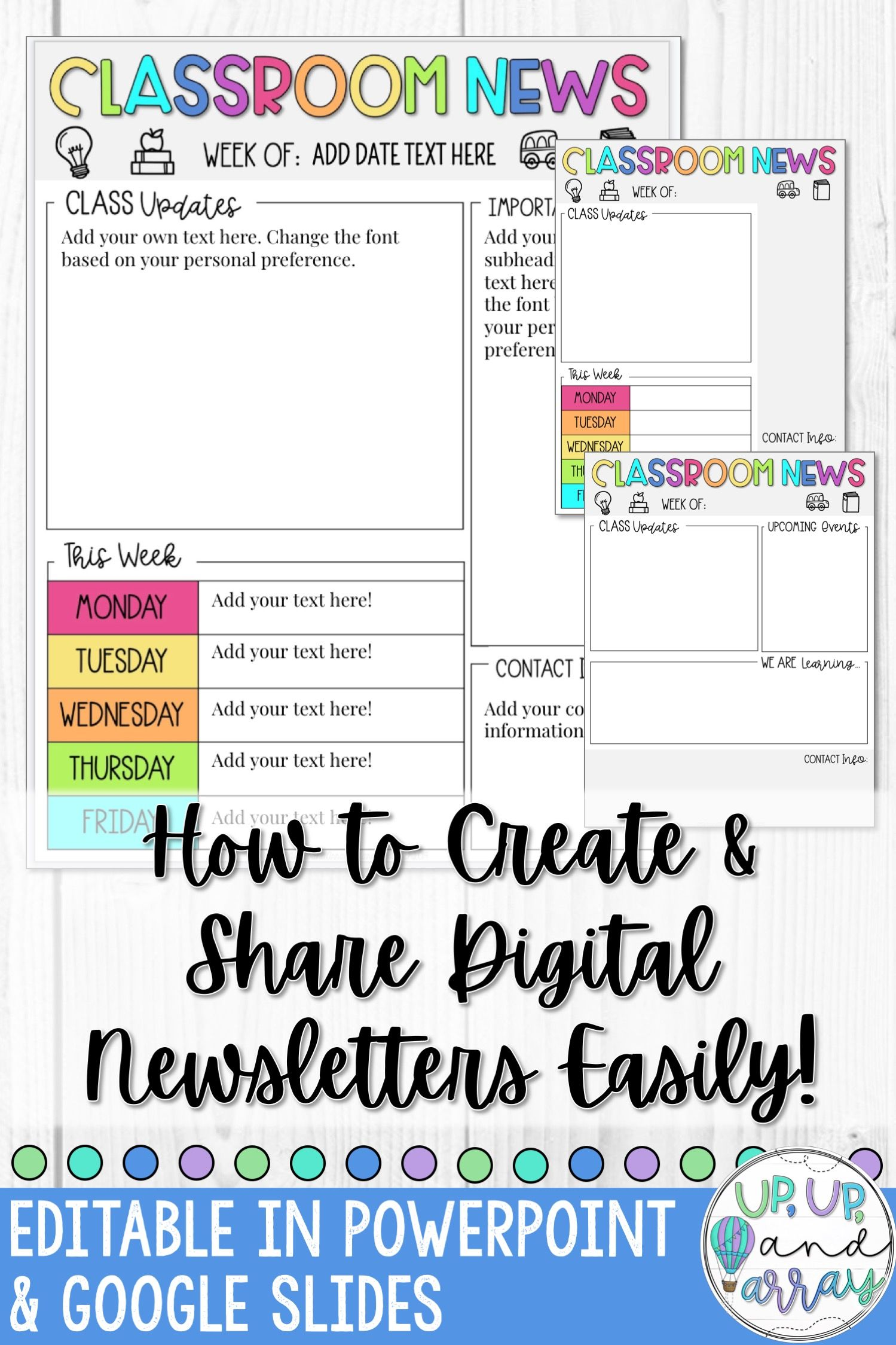 5 Steps To Create And Share Digital Classroom Newsletters Classroom Newsletter Google Classroom Elementary Digital Classroom