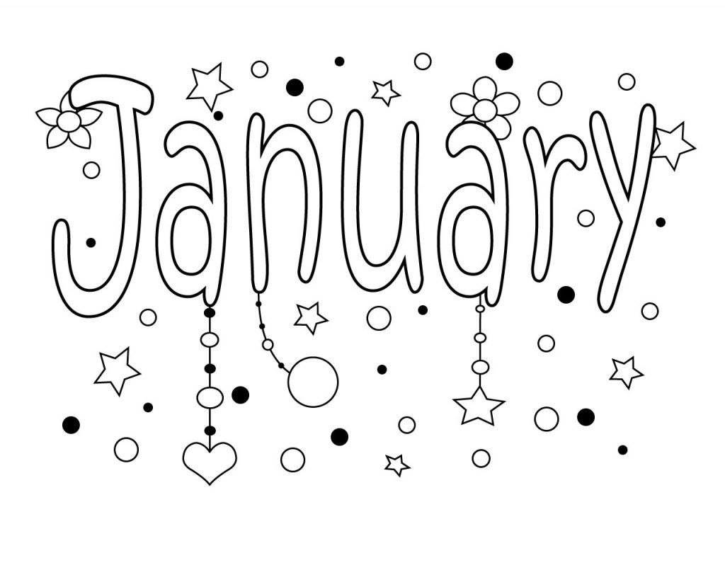 January Coloring Pages With Images
