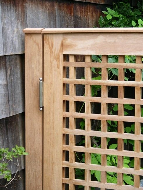 Lattice fence and gate constructed with spanish cedar for Wood lattice trellis