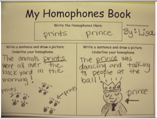 Homophones list here!