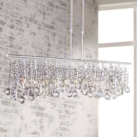 """Luminous Collection 48"""" Wide Crystal Chandelier  #72842  Www Magnificent Crystal Dining Room Chandeliers Inspiration Design"""