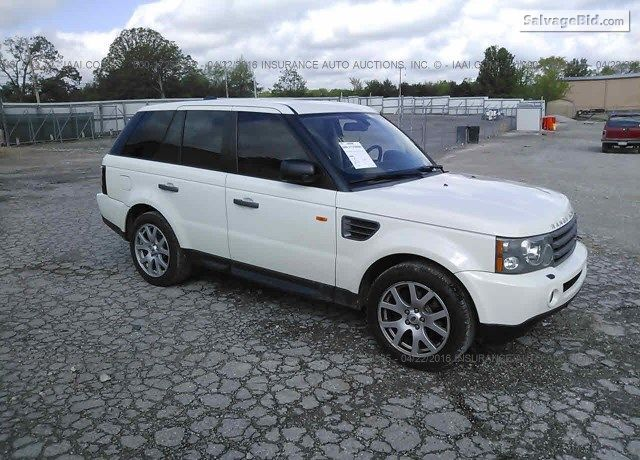 Salvage White Land Rover Range Rover Sport Online Auction At