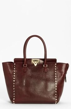 72dc4d6742dd Valentino  Rockstud Textured New  Leather Tote Prune One Size in September  2012 Hit Refresh from Nordstrom