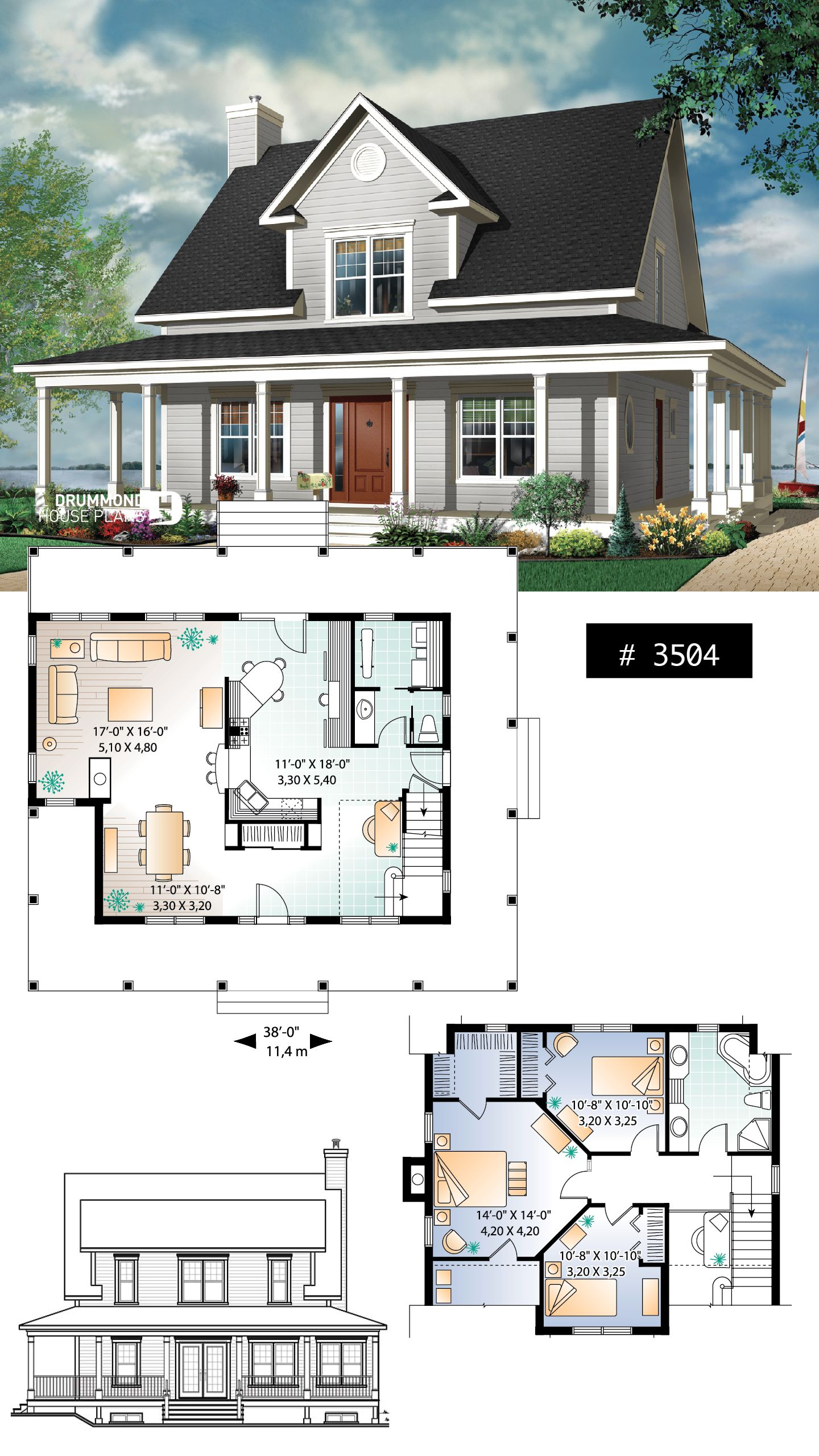 Discover The Plan 3504 Cumberland Which Will Please You For Its 3 Bedrooms And For Its Farmhouse Styles Farmhouse Style House Plans Sims House Design House Plans