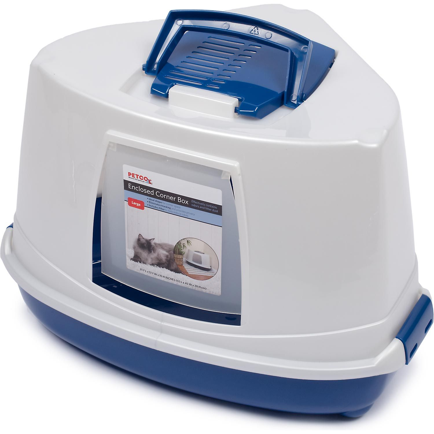 Petco Enclosed Corner Cat Litter Box Cat litter box