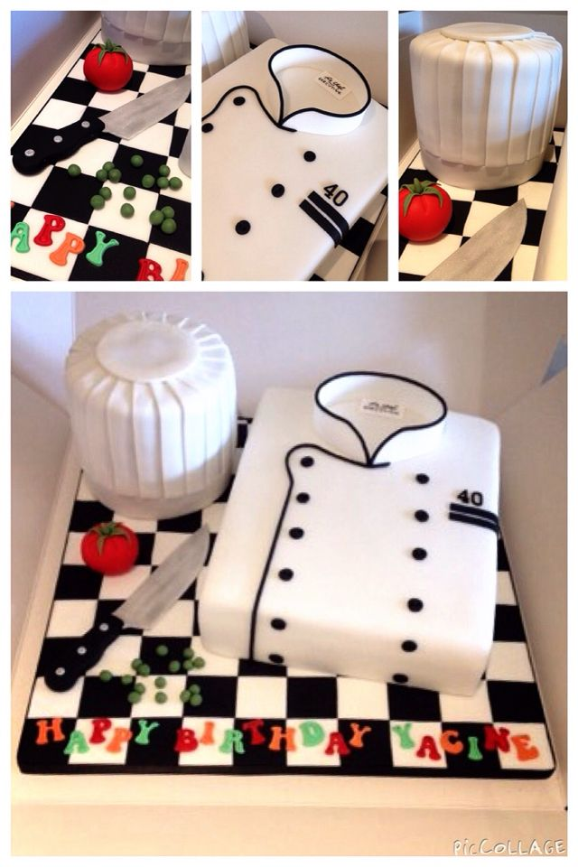 Chef Hat And Coat Birthday Cake Leslie S Cake Design