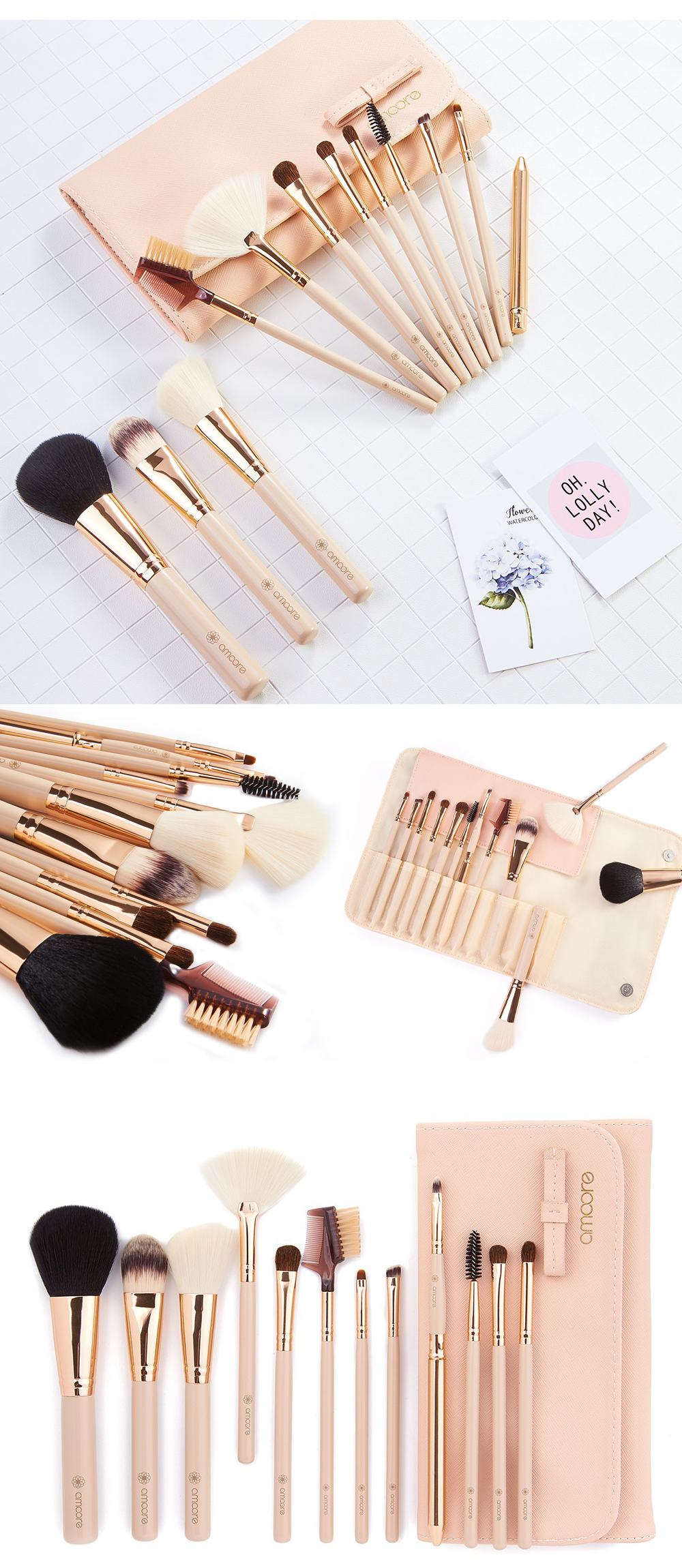 21 Beautifully Packaged Professional Makeup Brush Sets