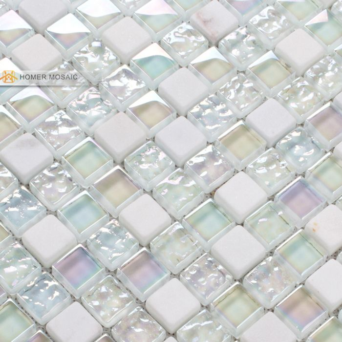 Liteglow glass and stone mosaic blue color white homer home improvem also cheap tile retailer buy quality tiling porcelain tiles directly