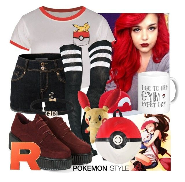 """""""Pokemon - Fangirl Contest"""" by bethisaweeb ❤ liked on Polyvore featuring LE3NO, Leg Avenue, Kanto and Nintendo"""