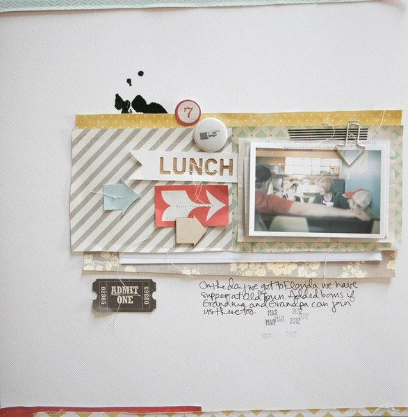 Lunch layout by Marcy Penner - Two Peas in a Bucket
