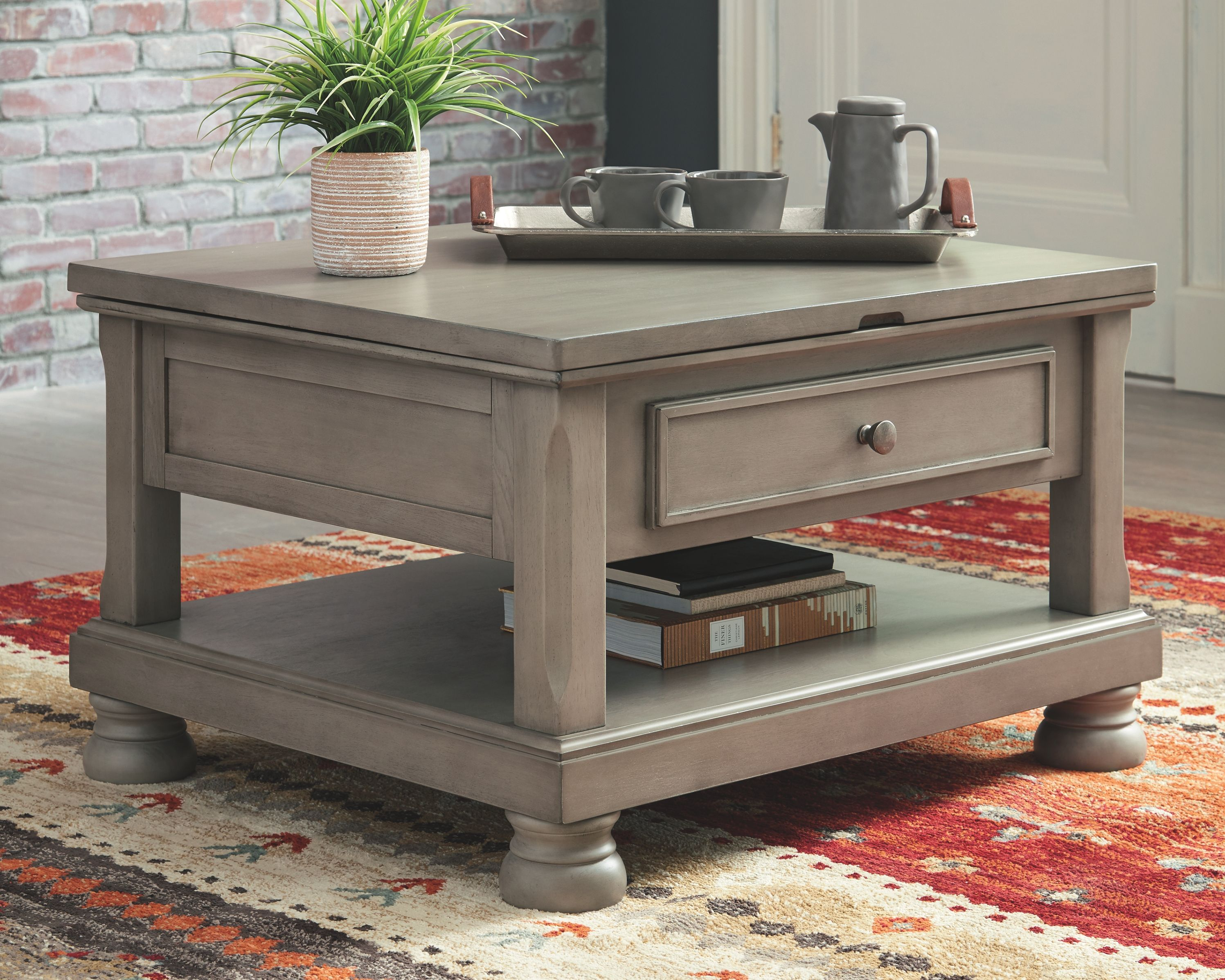 Lettner Coffee Table With Lift Top Gray Coffee Table Lift Top Coffee Table Coffee Table Grey [ 2396 x 2994 Pixel ]