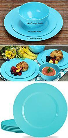 Melamine Plastic Plates. Calypso Basics by Reston Lloyd Melamine Dinner Plate Set of 6 Turquoise. #melamine #plastic #plates #melamineplastic # ... & Melamine Plastic Plates. Calypso Basics by Reston Lloyd Melamine ...