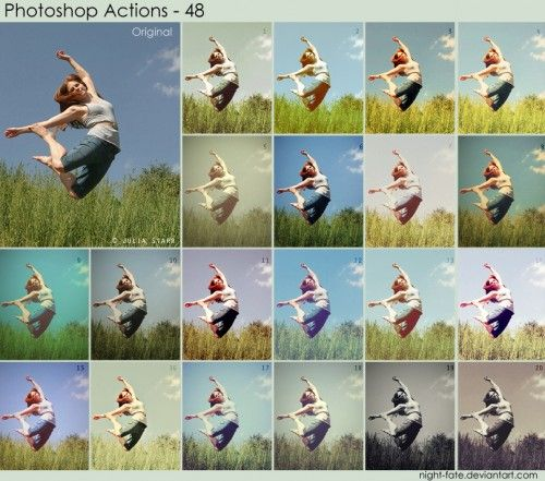 500 Free Professional Photoshop Actions Photography