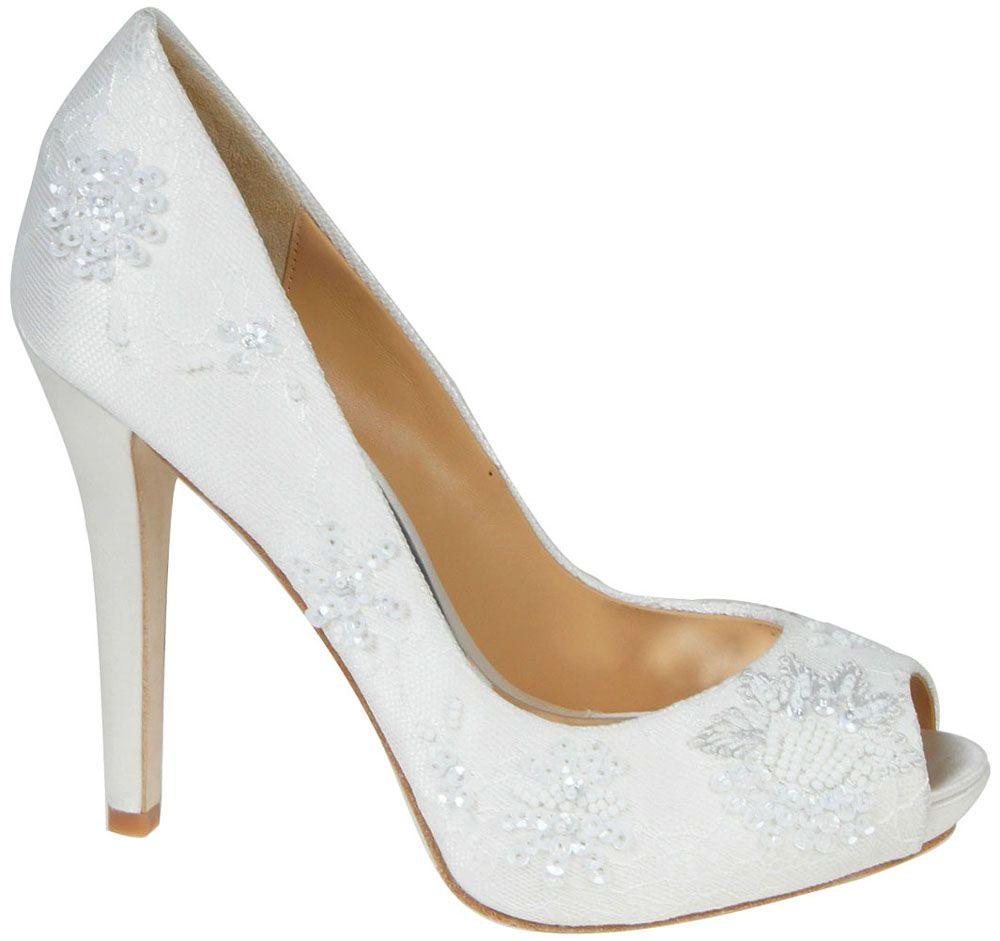 Diamond White Badgley Mischka Stella Bridal Shoes $225 00