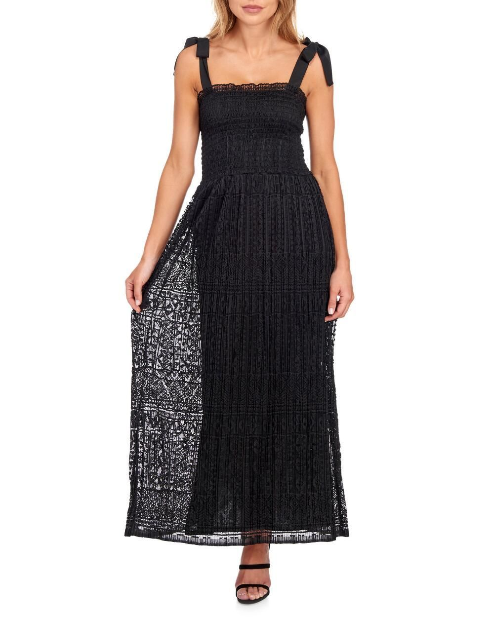 Sleeveless Tie Strap Lace Maxi Dress Occasion Maxi Dresses Lace Maxi Dress Style Maxi Dress [ 1250 x 1000 Pixel ]